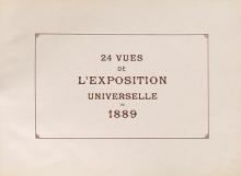 Cover of 24 vues de l'Exposition universelle de 1889