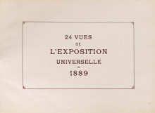 Cover of 24 vues de l'Exposition universelle de 1889