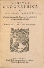 Cover of Adriani Metii ... De genuino usu utriusque globi tractatvs
