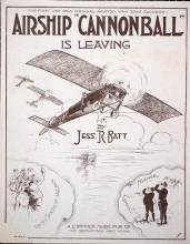 Cover of Airship 'Cannonball' is leaving