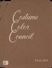 Cover of Costume Color Council presents costume color families for fall, 1950