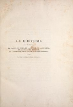 Cover of Le Costume ancien et moderne