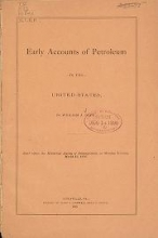 Cover of Early accounts of petroleum in the United States