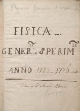 Cover of Fisica generale e sperimental