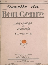 Cover of Gazette du bon genre