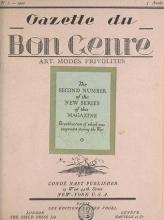 Cover of Gazette du bon genre