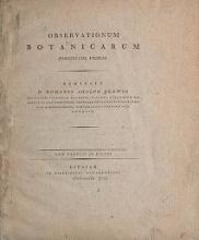 Cover of Observationum botanicarum fasciculus primus