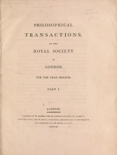 Cover of Philosophical transactions of the Royal Society of London