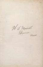 Cover of Private receipts, 1878