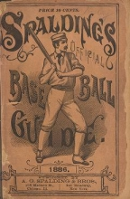 Cover of Spalding's base ball guide, and official league book for 1886