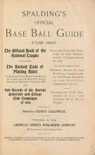 Cover of Spalding's base ball guide, and official league book for 1897-1898