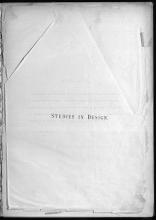 Cover of Studies in design