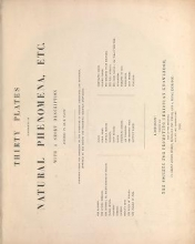 Cover of Thirty plates illustrative of natural phenomena, etc. - with a short description annexed to each plate