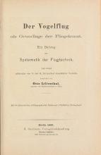 Cover of Der Vogelflug als Grundlage der Fliegekunst - ein Beitrag zur Systematik der Flugtechnik