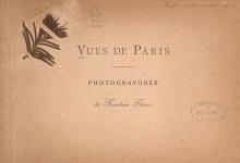 Cover of Vues de Paris