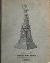 Cover of White bronze monuments, statuary, portrait medallions, busts, statues, and ornamental art work