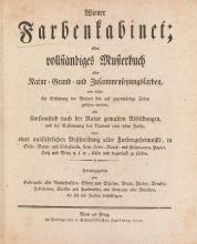 """Cover of """"Wiener Farbenkabinet : oder, vollständiges Musterbuch aller Natur= Grund= und Zusammensetzungsfarben .."""""""