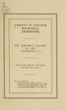 Cover of Abbott H. Thayer memorial exhibition