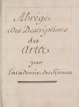Cover of Abrégé des descriptions des artes