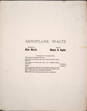 Cover of The aeroplane waltz