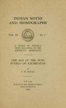Cover of The age of the Zuni pueblo of Kechipauan