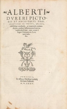 Cover of Alberti Dureri pictoris et architecti praestantissimi de vrbibus, arcibus, castellísque condendis, ac muniendis rationes aliquot, praesenti bellorum