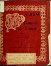 Cover of Album de dentelle de Venise