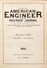 Cover of American engineer and railroad journal