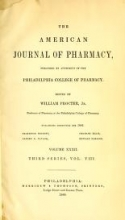 Cover of American journal of pharmacy