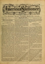 """Cover of """"The American stationer"""""""