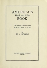 Cover of America's black and white book