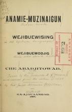Cover of Anamie-muzinaigun wejibuewising wejibuemodjig che abadjitowad