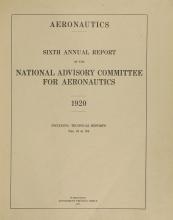 Cover of Annual report - National Advisory Committee for Aeronautics