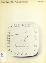 Cover of Annual report of the Postmaster General