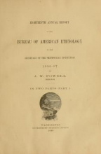 Cover of Annual report of the Bureau of American Ethnology to the Secretary of the Smithsonian Institution