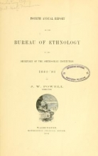Cover of Annual report of the Bureau of Ethnology to the Secretary of the Smithsonian Institution