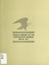 Cover of Annual report of the Postmaster General 1977