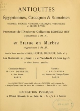 Cover of Antiquités égyptiennes, grecques & romaines