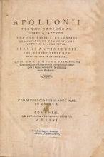 Cover of Apollonii Pergæi Conicorum libri quattuor