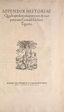 Cover of Appendix historiae quadrupedum uiuiparorum & ouiparorum Conradi Gesneri Tigurini
