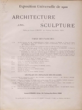 Cover of L'architecture and la sculpture al l'Exposition de 1900