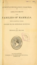 Cover of Arrangement of the families of mammals