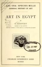 Cover of Art in Egypt