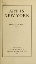 Cover of Art in New York