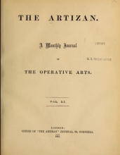 Cover of The Artizan