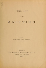 Cover of The Art of knitting
