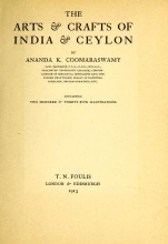 Cover of The arts & crafts of India & Ceylon
