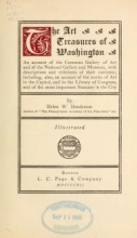 Cover of The art treasures of Washington
