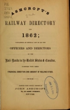 Cover of Ashcroft's railway directory for