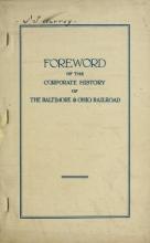 Cover of Baltimore and Ohio railroad corporate histories